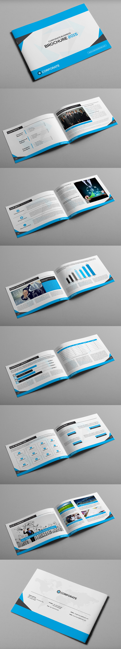 Corporate Brochure Landscape Brochure