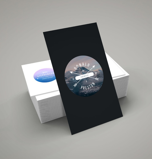 Free Business Card Mockup PSD Template