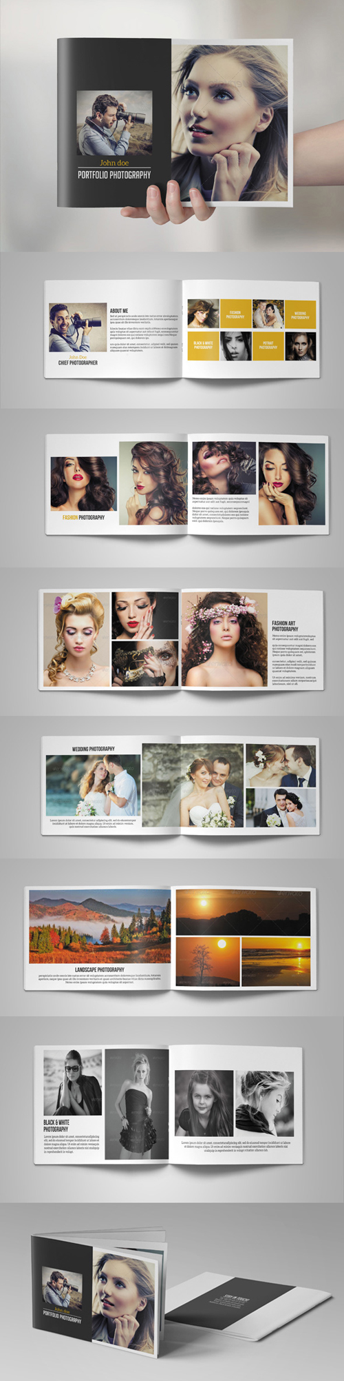 Photography Portfolio Brochure / Catalog Template