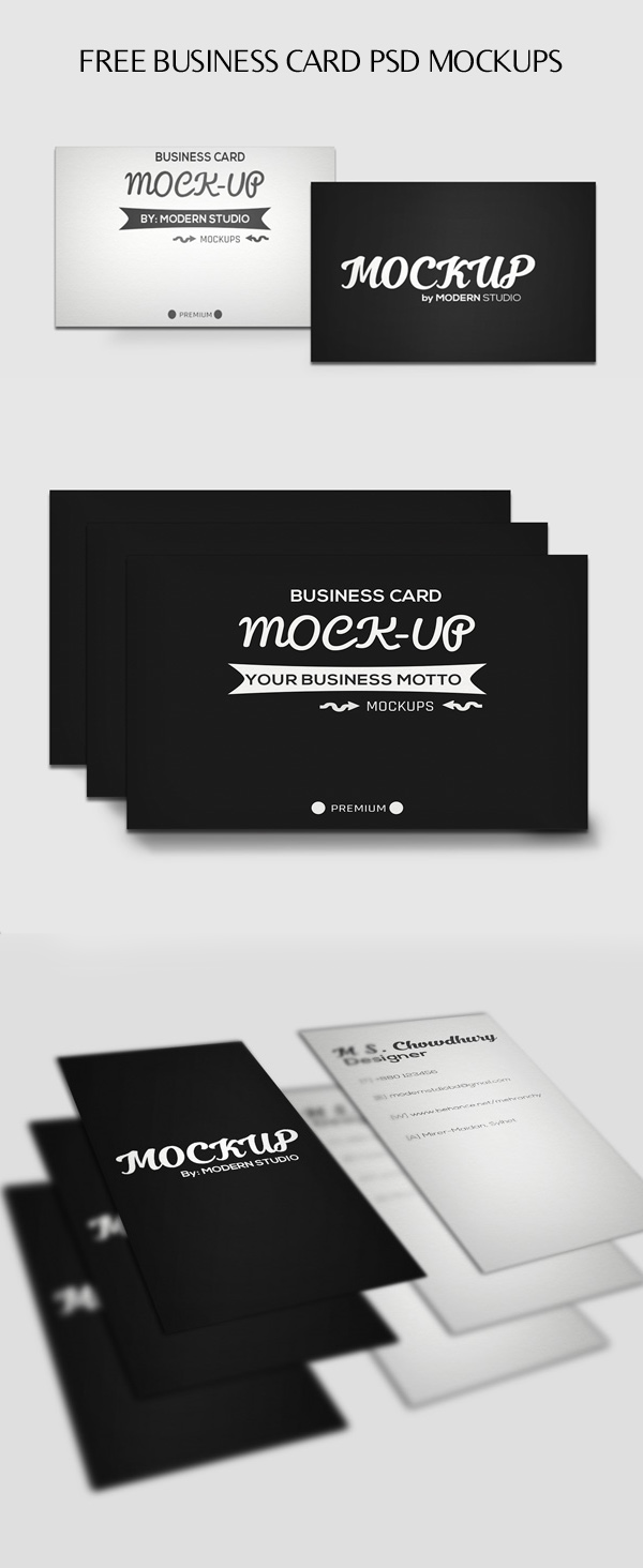 100 best free psd mockups freebies graphic design junction free horizontal and vertical business card psd mockups magicingreecefo Gallery
