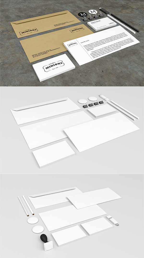Free Corporate Stationery PSD Mockups