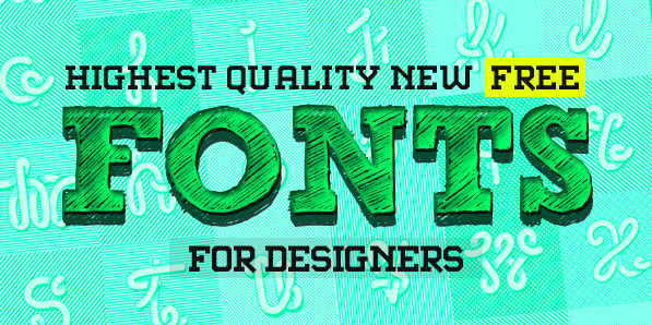 12 Fresh Free Fonts for Designers