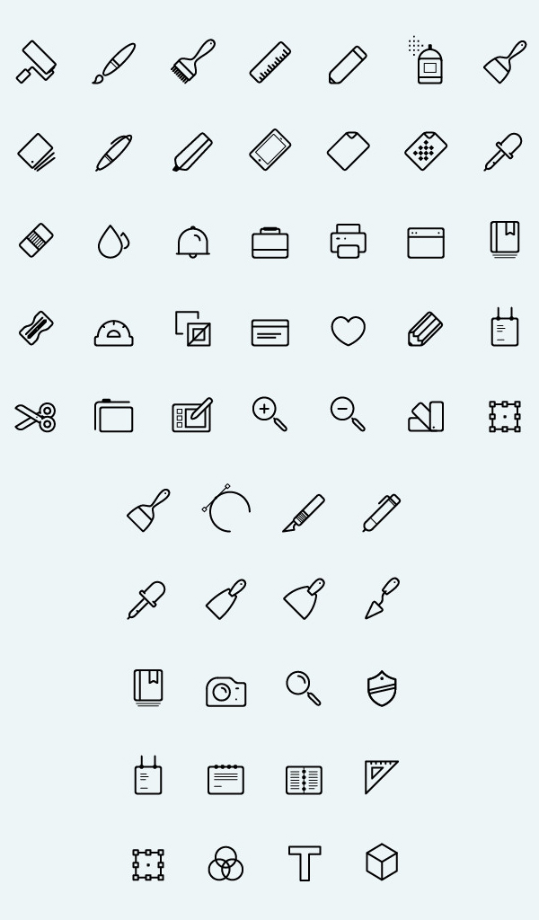 Line Art Icons : Free outline icons for ui designers