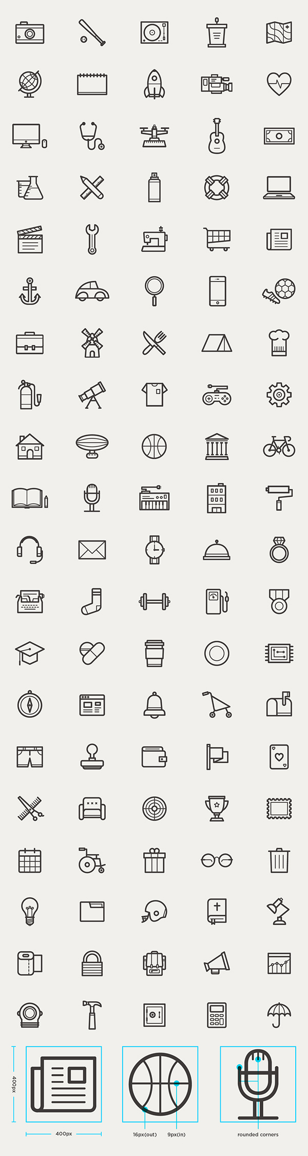 free outline icons set 95 icons - Free Resume Icons