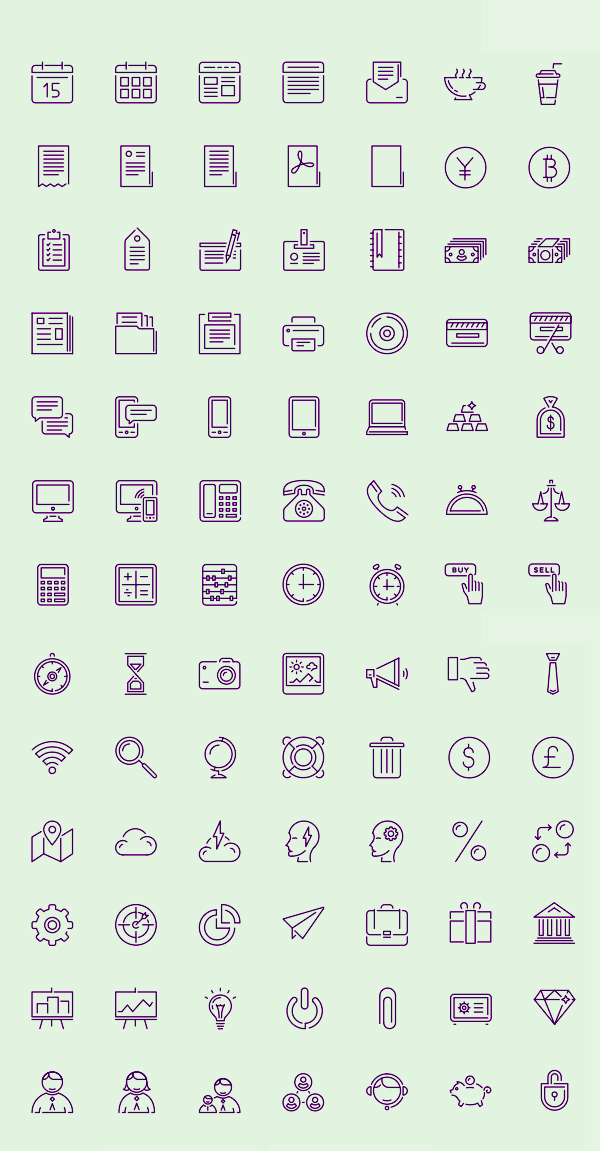 Free Puppets Stroke Icons - AI, EPS and PDF (100 Icons)