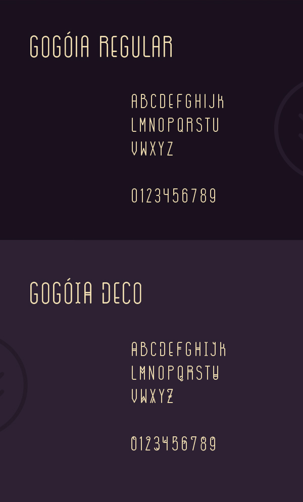 Gogoia rounded font letters and numbers