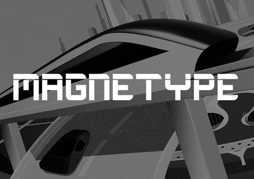 Magnetype Free Font