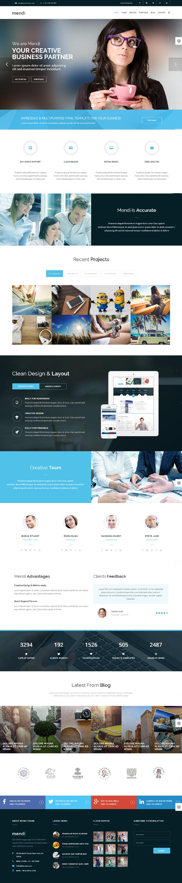 Mendi - MultiPurpose Corporate HTML5 Template