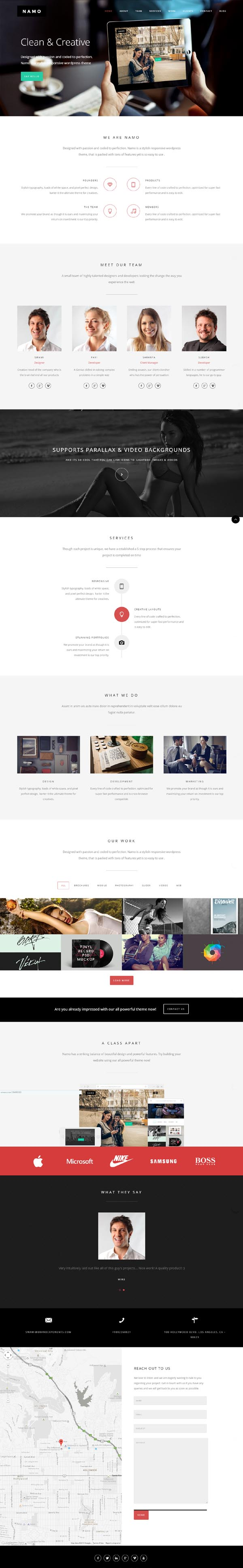 NAMO - Creative Multi-Purpose HTML5 Theme