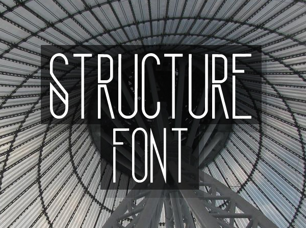 Structure Free Font for Designers