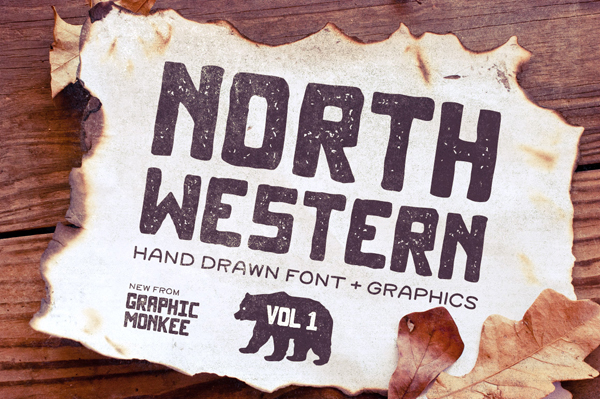 North Western Font + Vectors