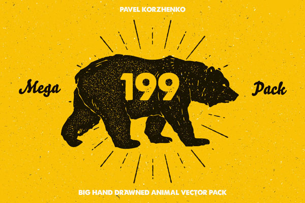 58 Hand Drawn Animal Pack