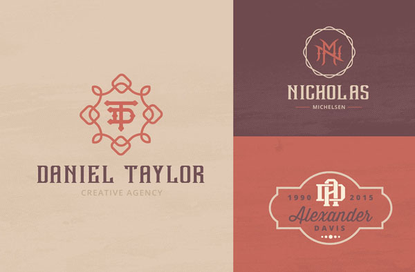 Monogram Badges for Graphic Designers