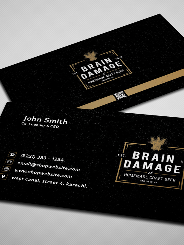 Free Vintage Black Business Card PSD Template | Freebies | Graphic ...