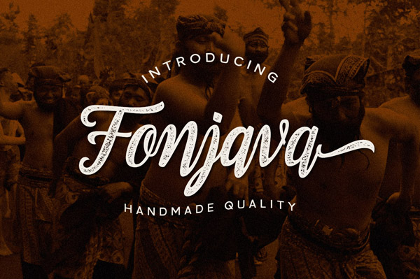 Fonjava –A new typeface based on handlettering script