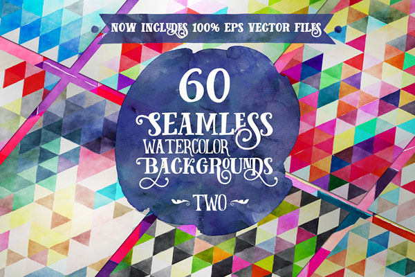 60 Seamless Watercolor Backgrounds