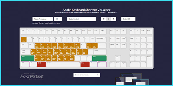 Adobe Keyboard Shortcut Mapper