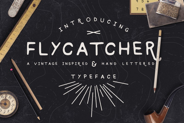 Flycatcher new hand drawn typeface