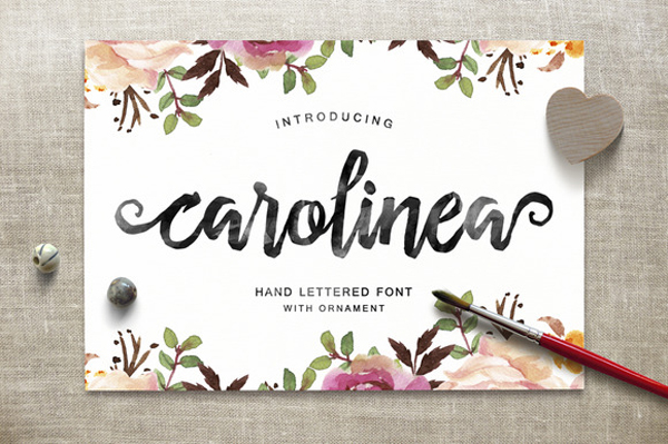 Carolinea is a hand lettered script fonts