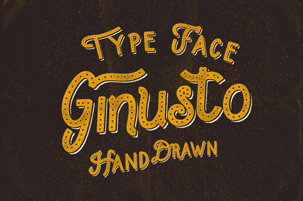 Ginusto Family typeface font made by hand