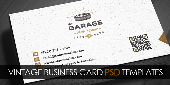 Free Vintage Business Card Psd Template Freebies Graphic Design