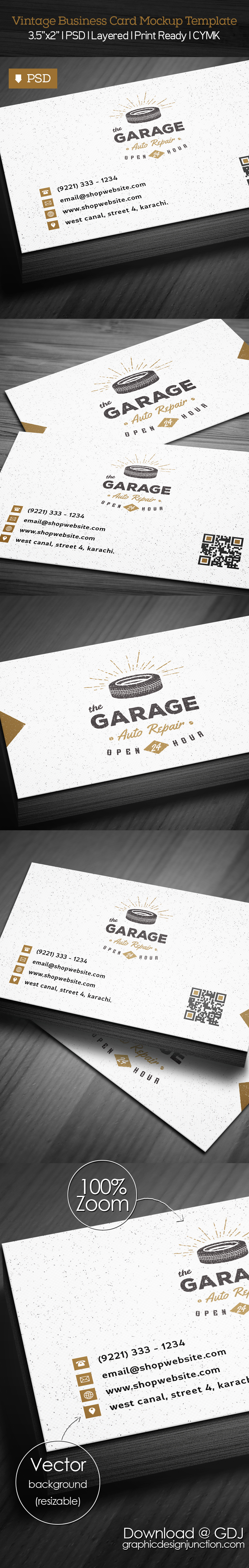 Free Vintage Business Card PSD Template | Freebies | Graphic Design ...