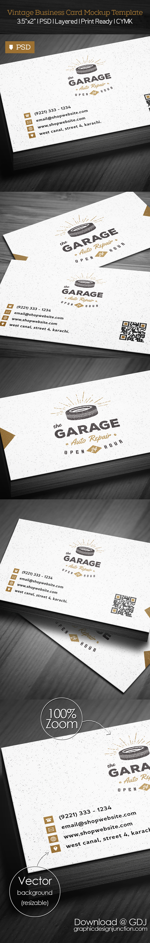 Free Vintage Business Card PSD Template Freebies