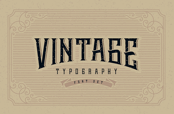 Whiskey label font + design elements