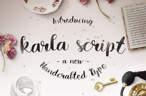 Amazing new hand crafted Font - Karla