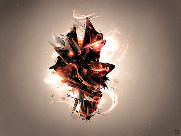 The Creation of Mercury Abstract Digital Art in Cinema4D and Photoshop