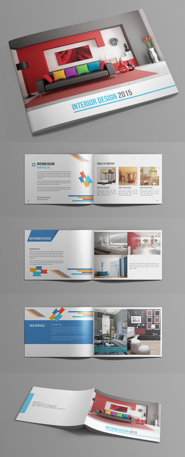 Free Catalog Portfolio Brochure PSD Download