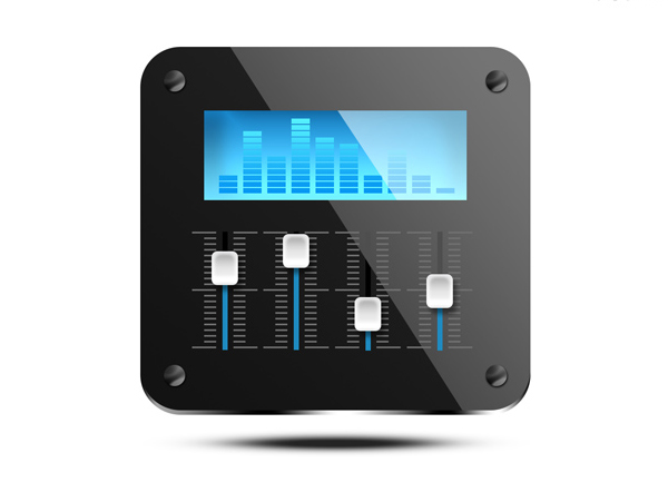 Sound mixer icon (PSD)