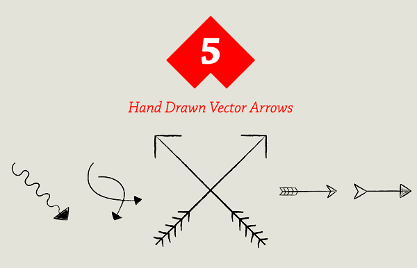 Free Hand Drawn Vector Arrows