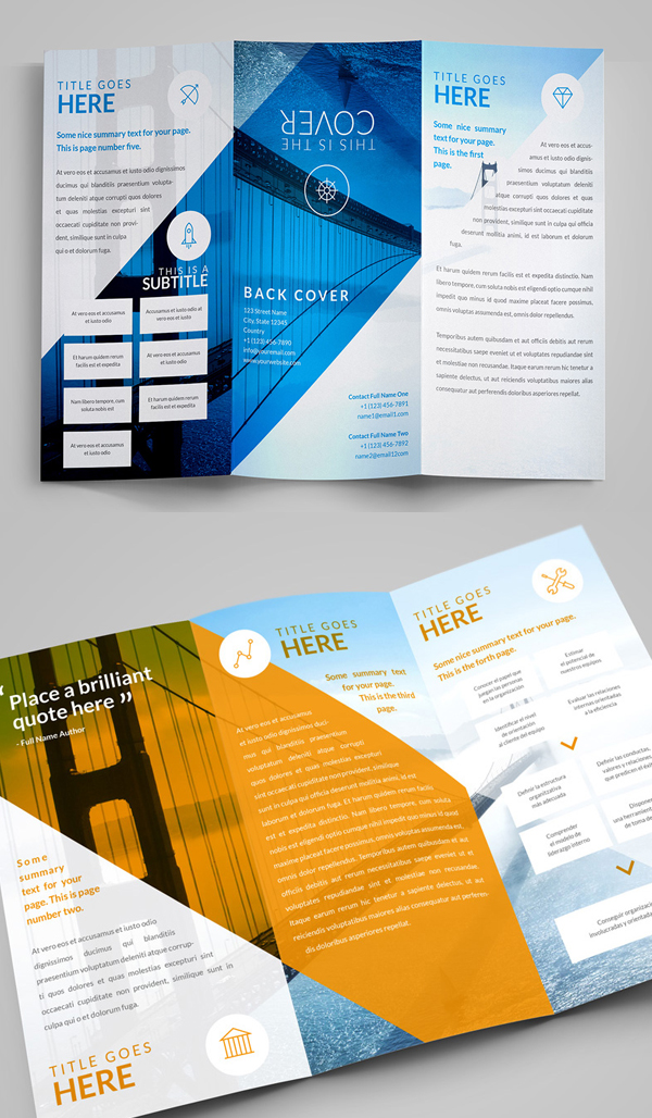 Original Trifold Brochure PSD Template