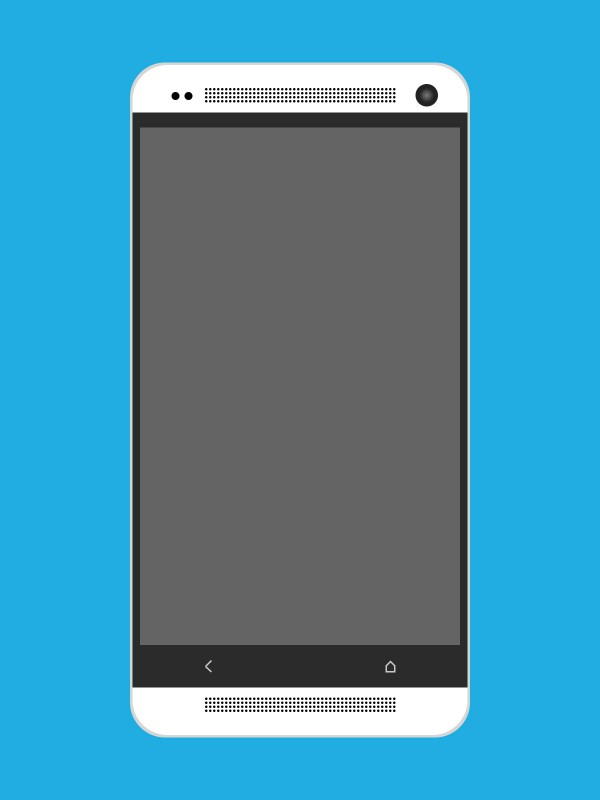 HTC One Flat Mockup Psd