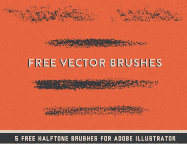 Halftone Vector Brushes for Adobe Illustrator CS6 and CC
