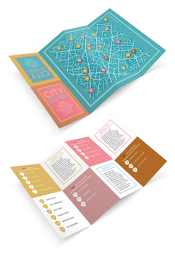 Design a Fold-Out City Guide in Adobe InDesign