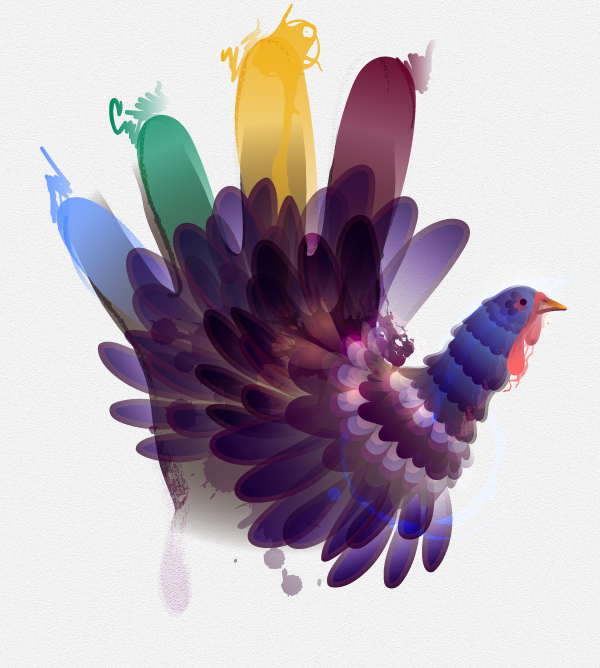How to Create a Modern Hand Turkey in Adobe Illustrator