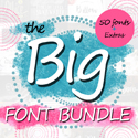 Post thumbnail of The Big 50 Font Bundle