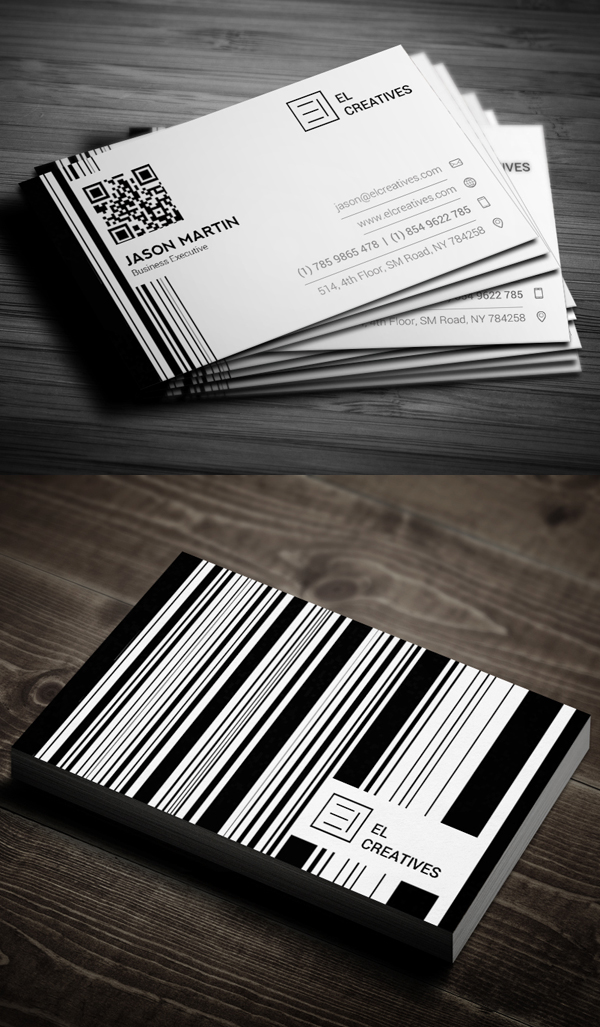 Creative Bar code Business Card