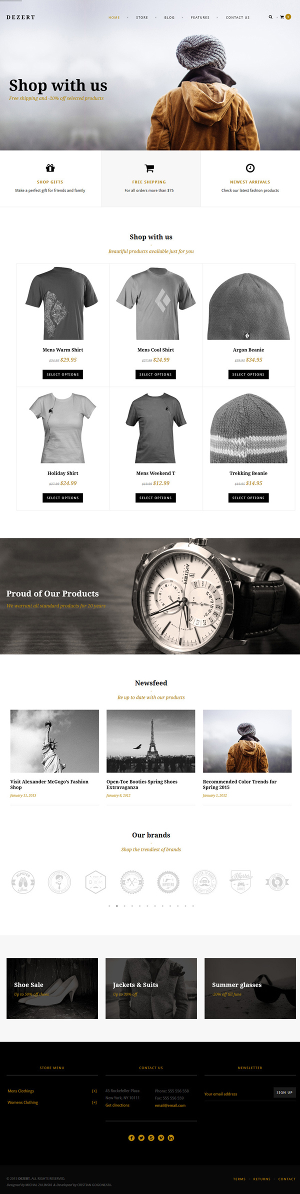 Dezert – WP EasyCart & WooCommerce Shopping Theme