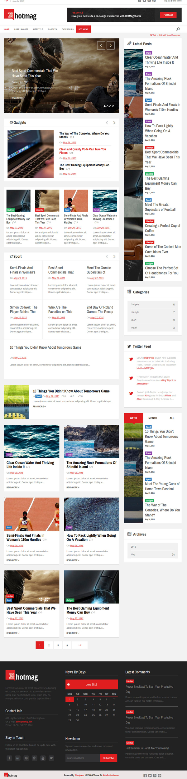 HotMag – WordPress News, Magazine Responsive Theme