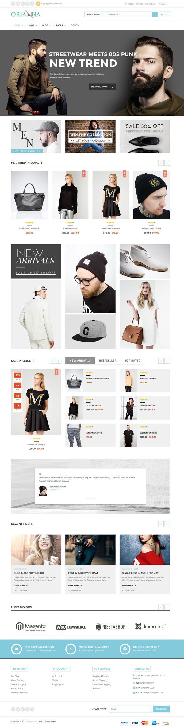 Orianna - Responsive WooCommerce Fashion Theme
