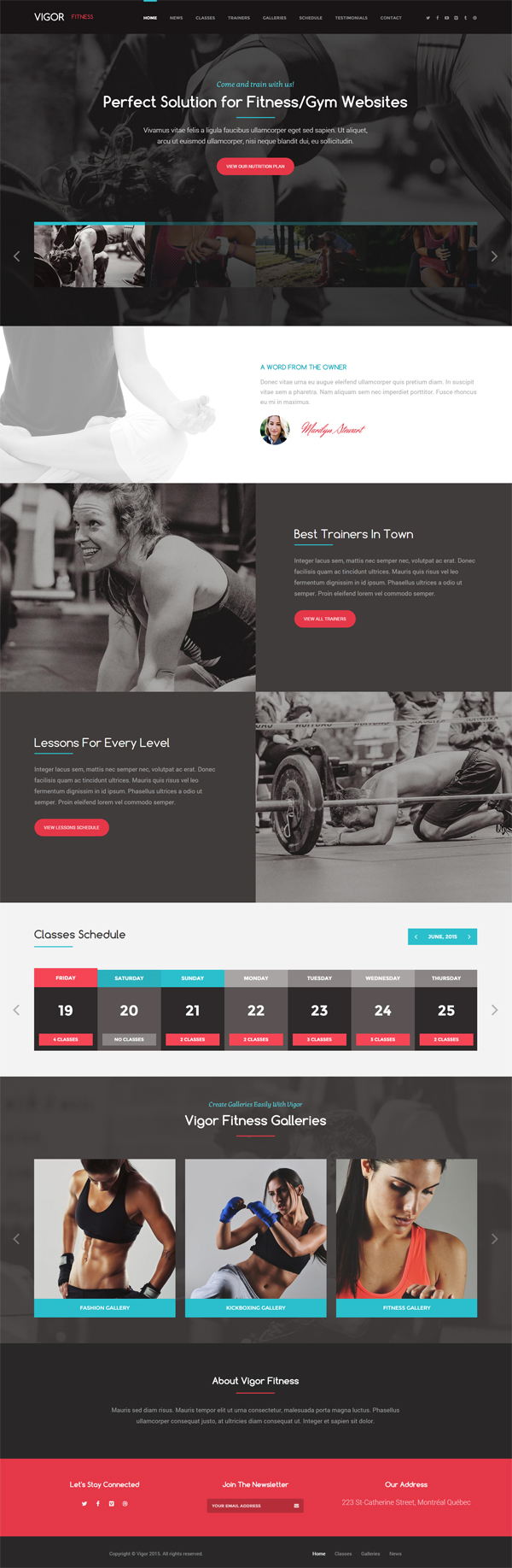 Vigor - Gym/Fitness WordPress Theme