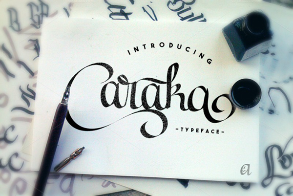 Caraka is a new font by Arkara