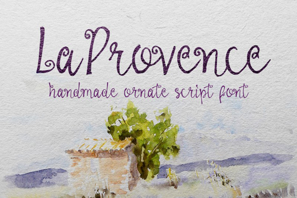 La Provence Font is a handmade calligraphic type