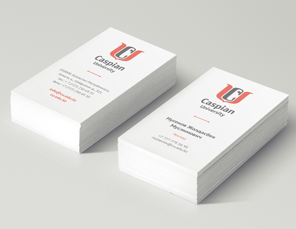 Caspian university Business Card