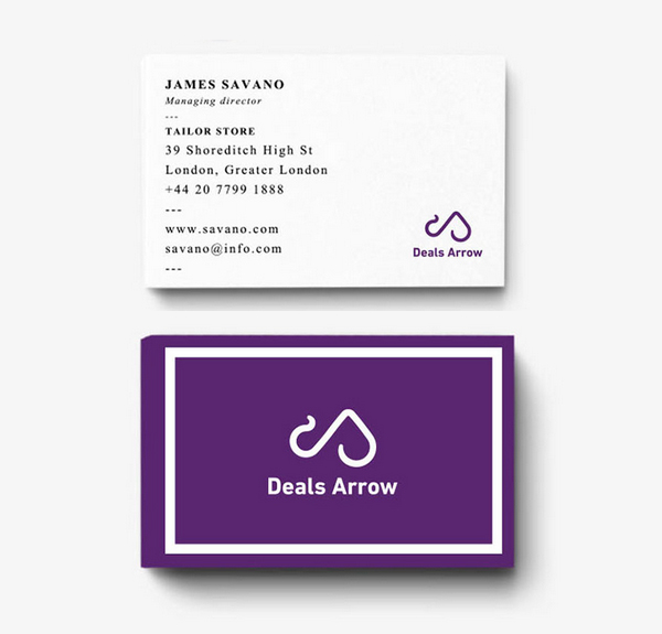 Deals Arrow-Brand Identity Business Card