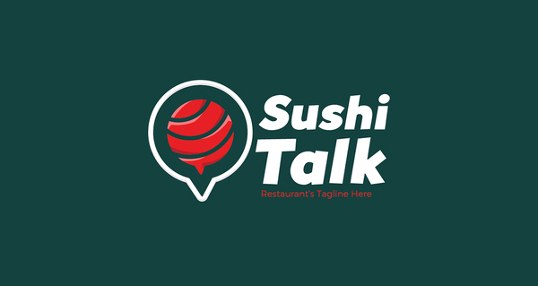 Sushi Talk Logo by HevnGrafix Design