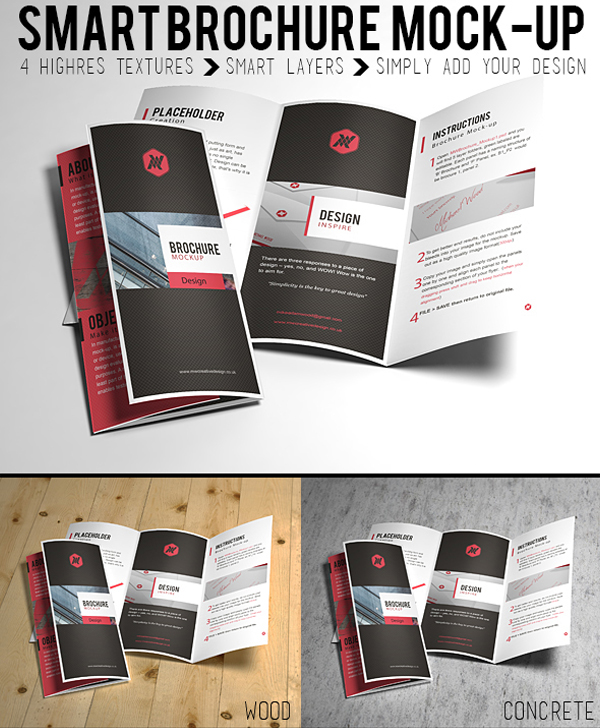 Free Smart Brochure Mock-up by Hasibur Rahman
